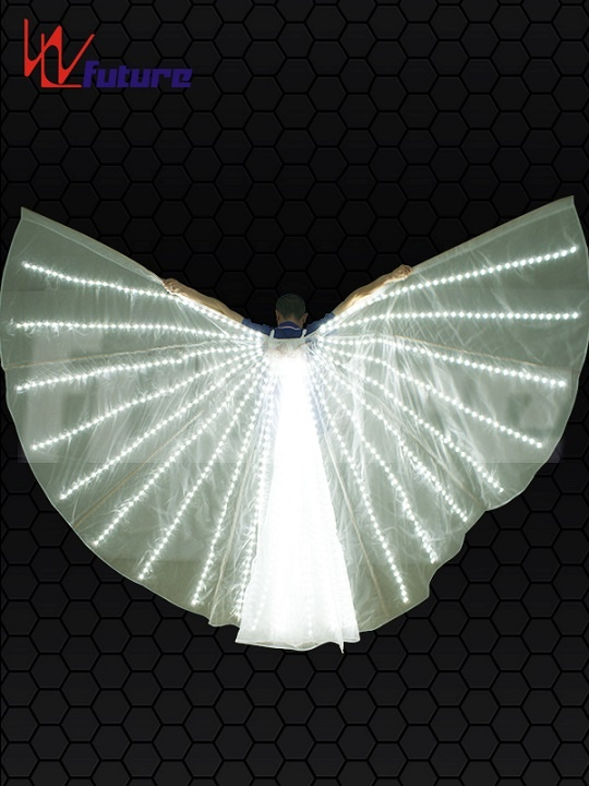 WL-0225 Wireless Remote Control full color customized LED White Color Fairy Wings LED Isis Wings for stage show girls dresses