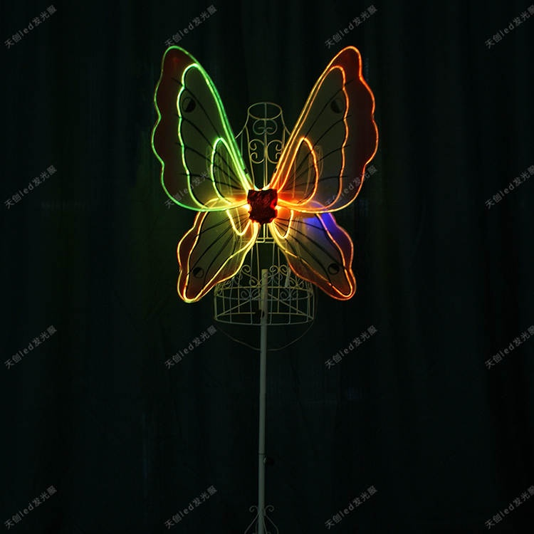 TC-0171-D full color Led  light up fiber optic butterfly wings