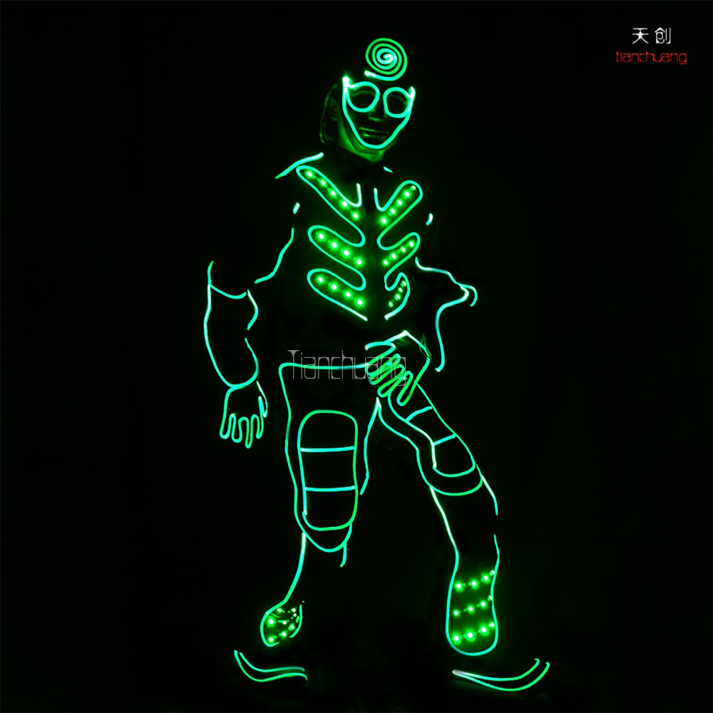 TC-0149 LED Fiber optic jumpsuits