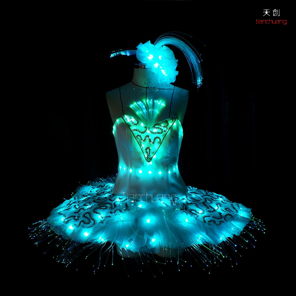 TC-033  LED fiber optic ballet skirt