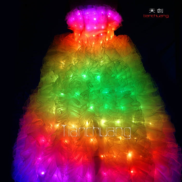 TC-021 full color led wedding dress