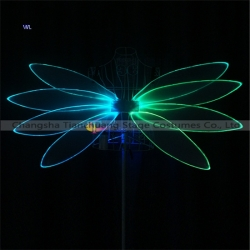 TC-0196 full color Led  light up fiber optic butterfly wings