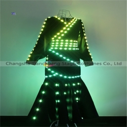 TC-0205 Full color LED dress performance costume