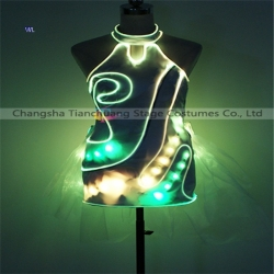 TC-0208 Full color LED short skirt performance costume