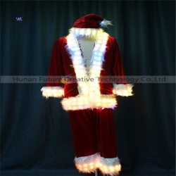 TC-0209 LED full color  Santa Claus performance costume