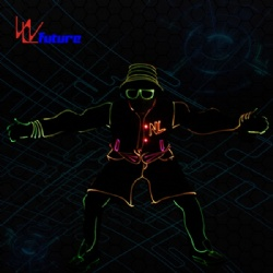 WL-0253 Remote control LED Dance Costume LED sport clothes Basket boys clothing LED Suit Costume glow in the dark dress