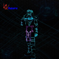 WL-0238  wireless control Fiber Optic/LED Dance Costumes +Helmet Tron Costume LED Traditional General Costume glow in the dark dresses