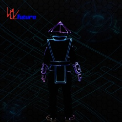 WL-0233 LED Tron Costume with Helmet LED Dance Costumes LED Chinese Traditional Dress Opera Knight Suits Wireless Control