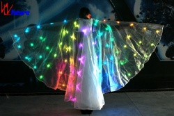 WL-0222 Remote Control LED Dance Props Isis Wings LED butterfly cloak womens cloak Luminous Wings for dancer & Model