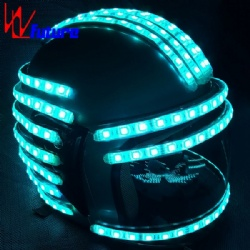 WL-0137 Wireless control Programmable Luminous Helmet  Super-man smart motorcycle LED Dance Props Helmet