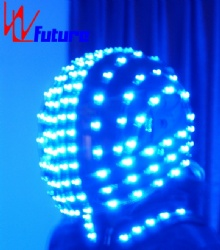 WL-070 wireless control LED Helmet Full Color Superman smart motorcycle LED Dance Props Helmet LED Light Costumes Props