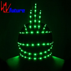 WL-0133 wireless control programmable LED Dance Props Helmet LED Light Costumes Props Helmet LED Generals / Soldiers Helmet