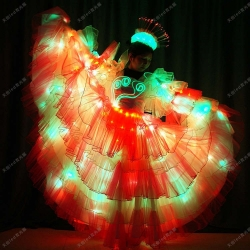 TC-0173 led dress,led costumes,fabir optic costumes