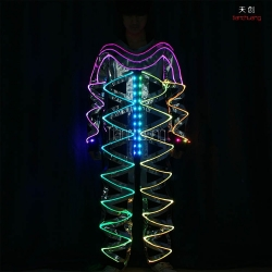 TC-0172-A fiber optic costumes led light costumes