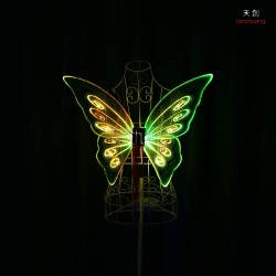 TC-0171-C full color LED light up fiber optic butterfly wings
