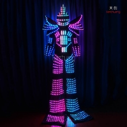 TC-0130 stilt walkers's led robot costumes