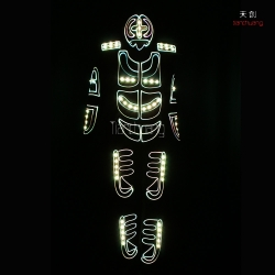 TC-0124 LED fiber optic  costumes