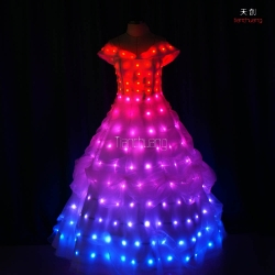 TC-056 Full color LED Wedding Dress
